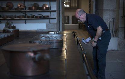 Inside the Spanish Royal Palace kitchens.