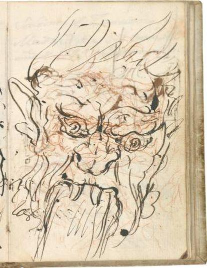 'Mascarón de Fuente' in Goya's 'Italian Sketchbook.'