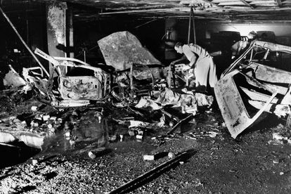 The Hipercor superstore in Barcelona after the ETA attack in 1987.
