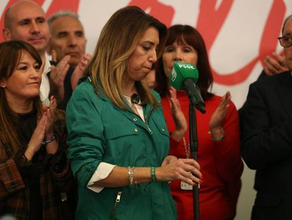 Andalusian PM Susana Díaz on Sunday.