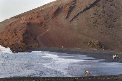 El Golfo, one of Lanzarote's wild beaches.