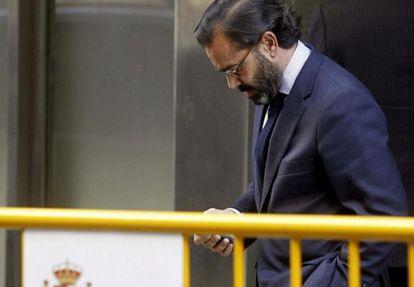 Former SGAE executive Pedro Farré arrives at the High Court.