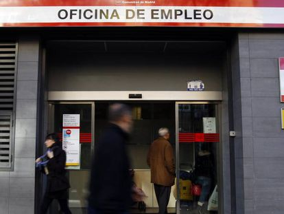 An unemployment office in Madrid.
