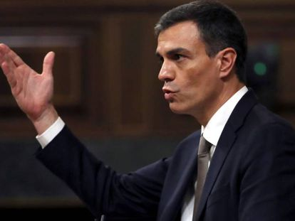 Socialist leader Pedro Sánchez.