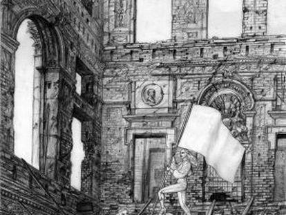 De las Heras' drawing Berlin Schloss.