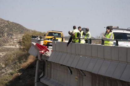The scene of the accident that killed Marta Jorgoso.