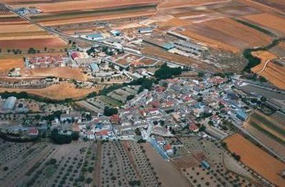 An aerial view of Ventas de Huelma in Granada province.