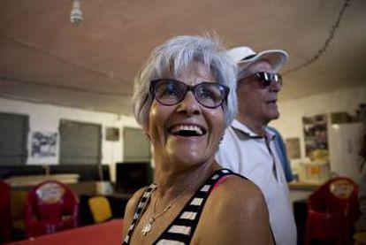 Soledad Cobos and her husband José Antonio Canedo at the Monfragüe Neighbors Association.