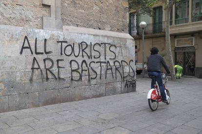 The writing is on the wall for Spain's tourism sector.