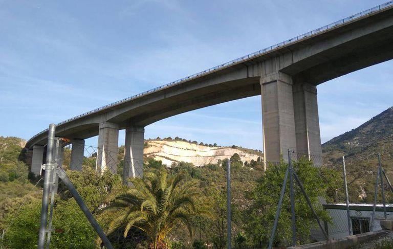 The A-92 highway where it crosses Huétor-Santillán (Granada).