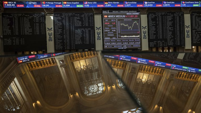 Spain's Ibex 35 index plunged on Monday amid jitters over crude oil prices and the impact of the coronavirus.
