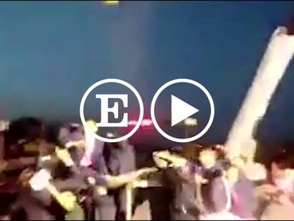 Video: President Maduro of Venezuela pelted with eggs