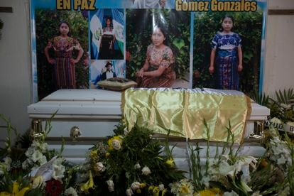 The funeral for Claudia Gómez Gonzales in her native village of San Juan Ostuncalco, in Guatemala.