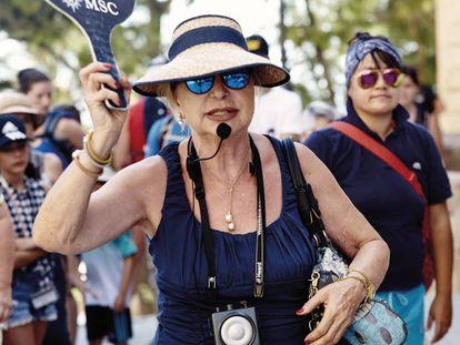 A tour guide in Palma de Mallorca.