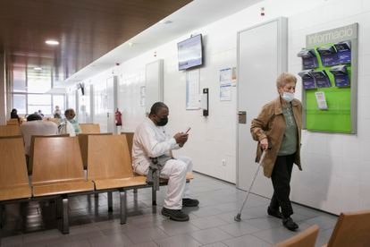 A waiting room at the Besòs primary healthcare center in Barcelona.