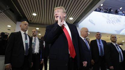 President Trump at Davos.