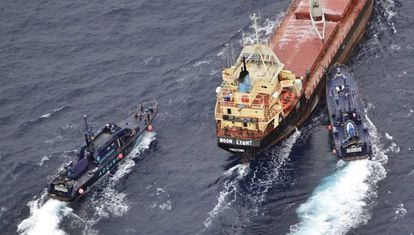 The Moon Light is one of the drug-carrying ships caught by Spanish authorities near territorial waters.