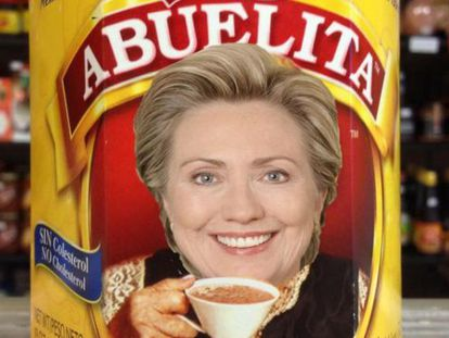 """One of the internet parodies to emerge after Clinton's """"abuela"""" campaign."""