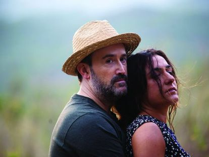Javier Cámara and Candela Peña in Isabel Coixet's Ayer no termina nunca, scheduled for release in Spain on April 26.