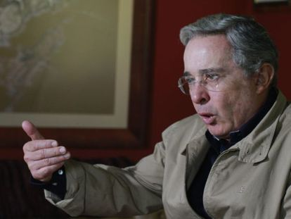 Álvaro Uribe, seen here in a recent interview.