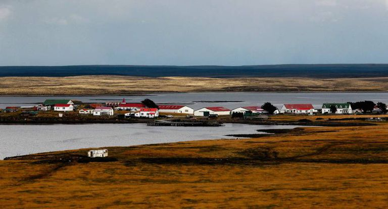 Goose Green, the Falkland Islands' second city.