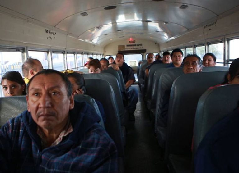 Maquila workers in Ciudad Juárez.