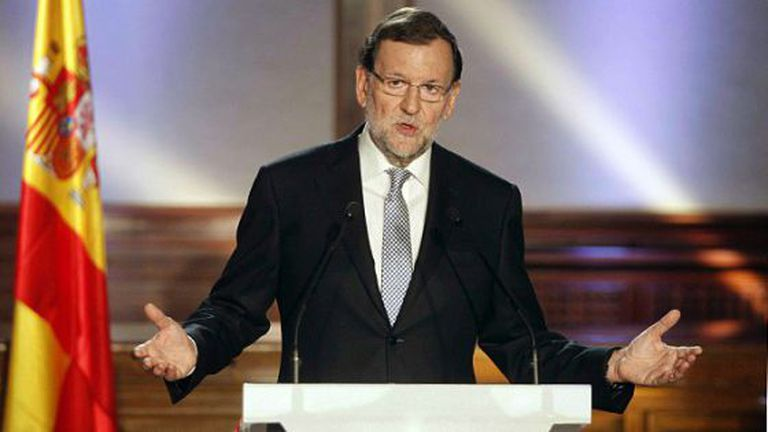 Spanish Prime Minister Mariano Rajoy on Monday.