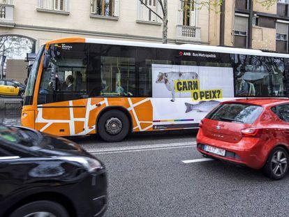 A Sant Boi bus spreads its anti-homophobic message.