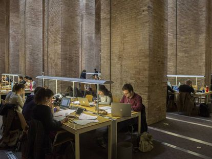 Students at Pompeu Fabra University in Barcelona.