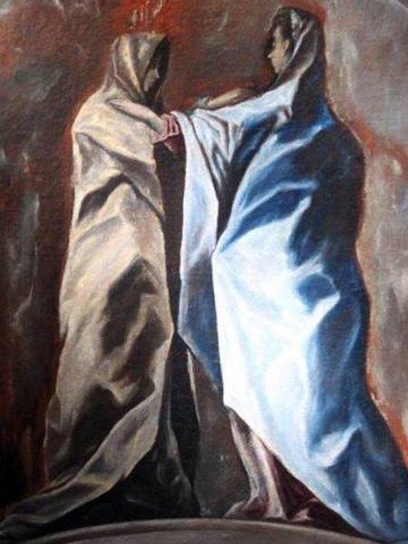 The work 'The Visitation,' presented at the El Greco Museum in Toledo.