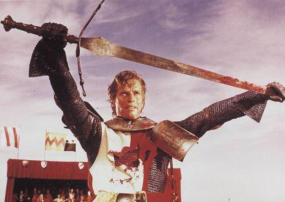 Charlton Heston in a scene from the epic movie 'El Cid.'