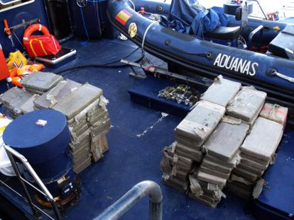 A shipment of hashish seized in southern Spain.