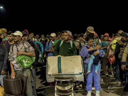 Migrant caravan en route to the US.