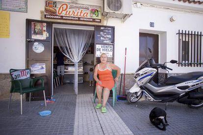 Carmen Muñoz has a small store in Bajo de Guía, Sanlúcar de Barrameda.