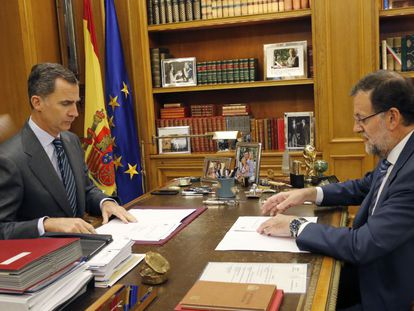 King Felipe and Rajoy, in a file photo from November.