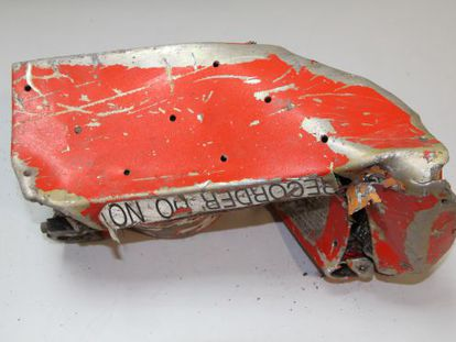 One of the black boxes recovered from the plane crash site.
