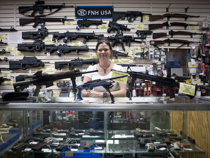 Gina Brewer, owner of the weapons store Texas Gun.