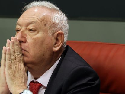 Acting foreign minister José Manuel García-Margallo travelled to Brussels on Monday.