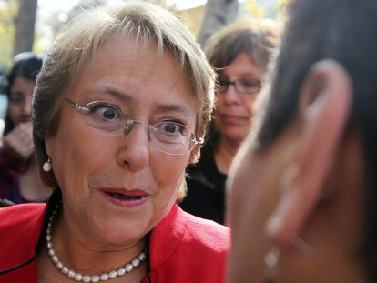 Presidential candidate Michelle Bachelet in Santiago last week.