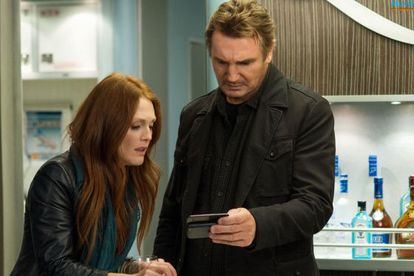 Julianne Moore and Liam Neeson in Jaume Collet-Serra's 'Non-Stop'.