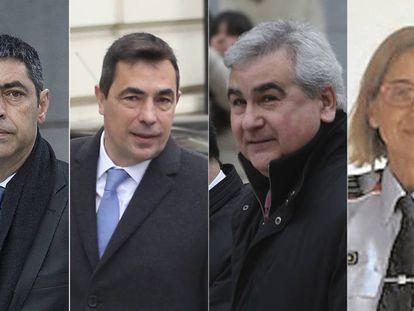 Josep Lluís Trapero, Pere Soler, César Puig and Teresa Laplana.