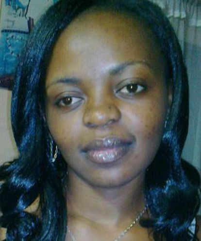 Christelle Nangnou, in a photograph uploaded on her Facebook account.