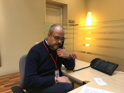 Catalan interior minister Miquel Buch pictured in his office this week.
