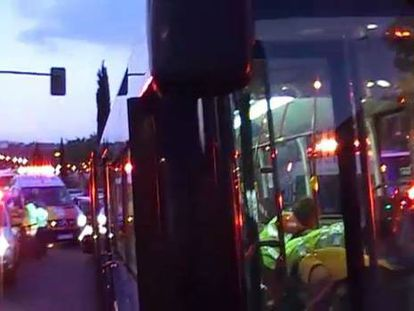 Madrid bus driver rescues wounded man from shooter intent on finishing him off