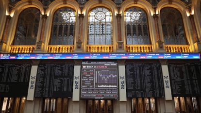 The stock exchange in Madrid.