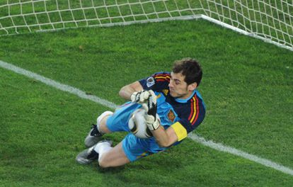 Casillas at the 2010 World Cup in South Africa.