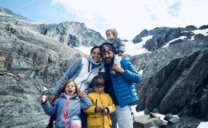 The family in the Martial Mountains in Argentina in January.