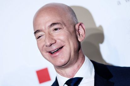 Jeff Bezos at an event in Berlin, Germany.