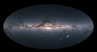 An image of the map of the Milky Way and other nearby galaxies.