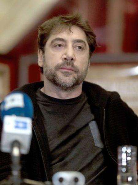 Spanish actor Javier Bardem gives a press conference to present the documentary 'Sons of the Clouds: The Last Colony' in Paris.